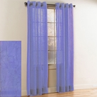 Crystal Crushed Grommet Sheer Panel (Lavender)