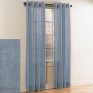 Crystal Crushed Grommet Sheer Panel (Light Blue)