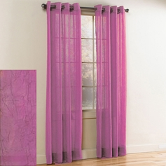 Crystal Crushed Grommet Sheer Panel (Lilac)