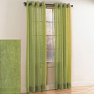 Crystal Crushed Grommet Sheer Panel (Lime)