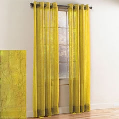 Crystal Crushed Grommet Sheer Panel (Neon Yellow)