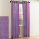 Crystal Crushed Grommet Sheer Panel (Purple)
