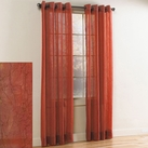 Crystal Crushed Grommet Sheer Panel (Red)