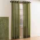 Crystal Crushed Grommet Sheer Panel (Sage)
