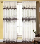 Dacia Curtain with Macrame Pattern (Beige & Brown)