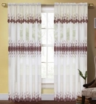 Dacia Curtain with Macrame Pattern (Beige & Rust)