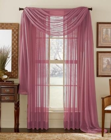 Dark Pink  Curtain Scarf (Dusty Rose)