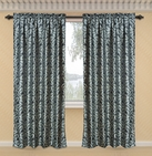 Dawson Printed Curtain with Lurex Accents (Black)