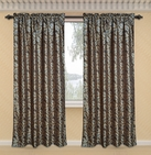 Dawson Printed Curtain with Lurex Accents (Brown)
