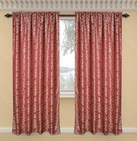 Dawson Printed Curtain with Lurex Accents (Burgundy)