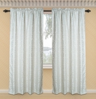 Dawson Printed Curtain with Lurex Accents (Ivory)