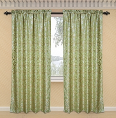 Dawson Printed Curtain with Lurex Accents (Sage Green)