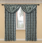 Dawson Printed Valance with Lurex Accents (Black)