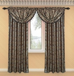 Dawson Printed Valance with Lurex Accents (Brown)
