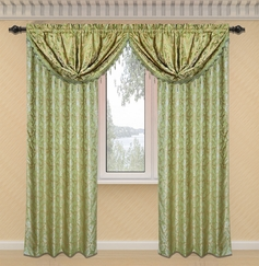 Dawson Printed Valance with Lurex Accents (Sage Green)