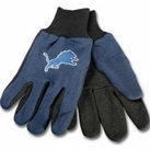 Detriot Lions Two Tone Gloves