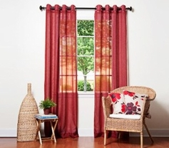 Doli Burgundy Grommet Sheer Panels (Set of 2)