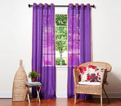 Doli Dark Purple Grommet Sheer Panels (Set of 2)