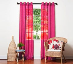 Doli Fuchsia Grommet Sheer Panels (Set of 2)