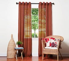 Doli Rust Grommet Sheer Panels (Set of 2)