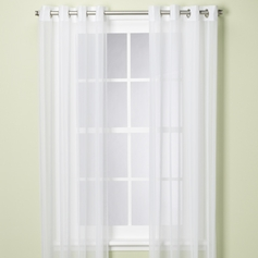 Doli White Grommet Sheer Panels (Set of 2)