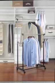 Double Adjustable Clothing Rack
