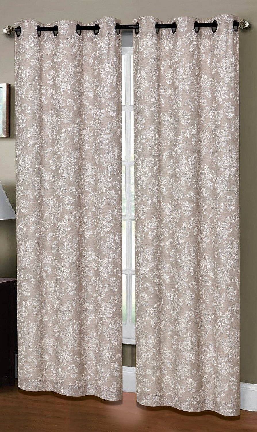 Dover Linen Look Curtain (2 piece Set) Caribou Linen