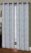 Dover Linen Look Curtain (2 piece Set) Grey