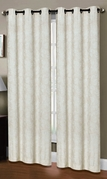Dover Linen Look Curtain (2 piece Set) Ivory