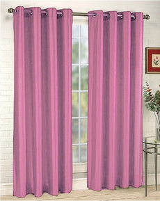 Elaine Faux Silk Grommet Panel (Tea Rose)