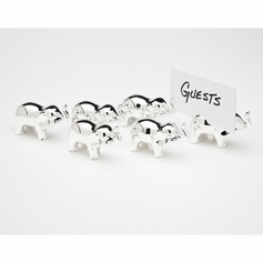 Set of 6 Elephant Placecard Holders