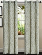 Elinor Linen Blend Jacquard Curtain  Set of 2 (Sage)