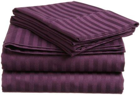 Embossed Dobby Stripe Sheet Set (Purple)