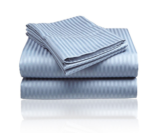 Embossed Dobby Stripe Sheet Set (Light Blue)