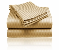 Embossed Dobby Stripe Sheet Set (Gold)