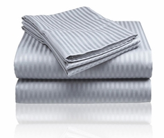 Embossed Dobby Stripe Sheet Set (Grey)
