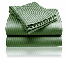 Embossed Dobby Stripe Sheet Set (Dark Green)