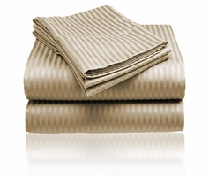 Embossed Dobby Stripe Sheet Set (Taupe)