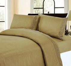Embroidered Sheet Set (Mocha)