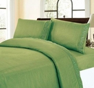 Embroidered Sheet Set (Sage Green)
