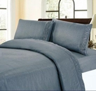 Embroidered Sheet Set (Seascape Blue)