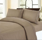 Embroidered Sheet Set (Taupe)
