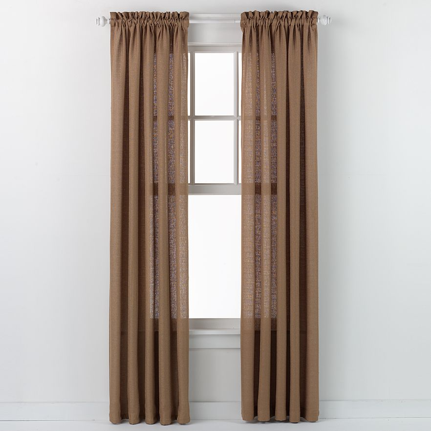 Emerald Crepe Curtain Panel (Antique Gold)