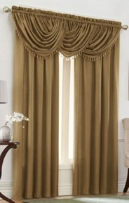 Emerald Crepe Curtain Set (Antique Taupe)