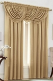 Emerald Crepe Curtain Set (Beige)