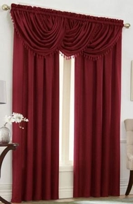 Emerald Crepe Curtain Set (Brick Burgundy)