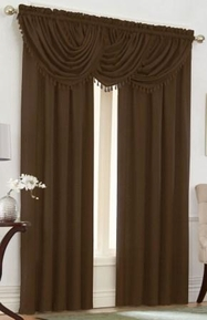 Emerald Crepe Curtain Set (Brown)