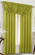 Emerald Crepe Curtain Set (Lime Green)
