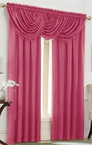Emerald Crepe Curtain Set (Magenta Pink)