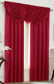 Emerald Crepe Curtain Set (Red)